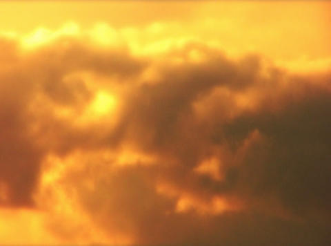 VJLoopH 156 GoldenSunsetCloudscape Stock Video Footage