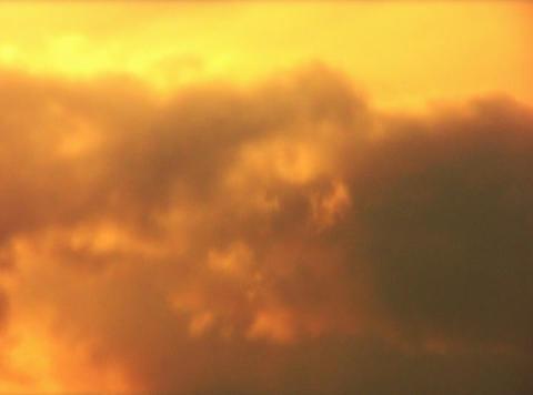 VJLoopH 156 GoldenSunsetCloudscape Stock Video Footage