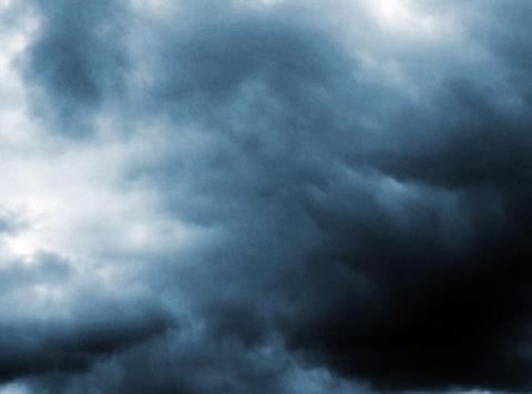 Time lapse Sky Dark blue 16sec Stock Video Footage