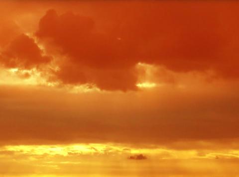 Time lapse Sunset Flare orange 24sec Footage