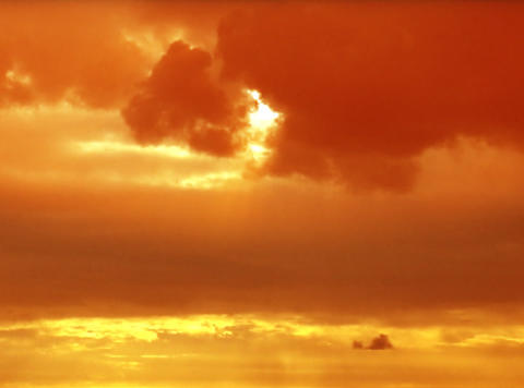 Time lapse Sunset Flare orange 24sec Stock Video Footage