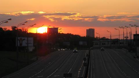sunset traffic time lapse 3 Footage