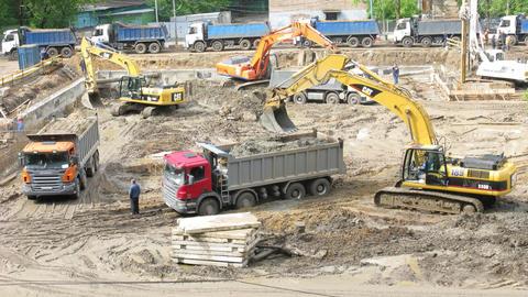 excavators Footage