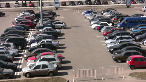 parking many cars Footage