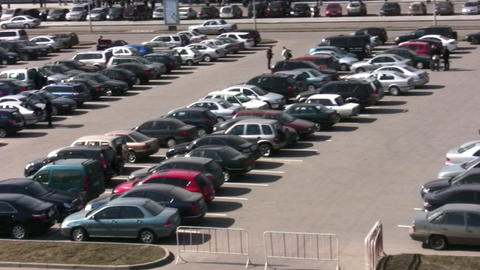 parking many cars Stock Video Footage