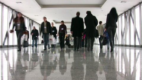 businesspeople in corridor Stock Video Footage