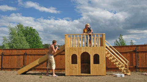 play yard chute time lapse Stock Video Footage