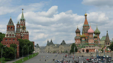 moscow time lapse Stock Video Footage