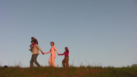 walking family Footage
