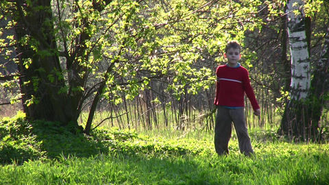 child in park Stock Video Footage