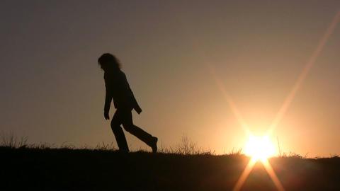 walking girl Footage