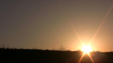 dance girl sunset Stock Video Footage