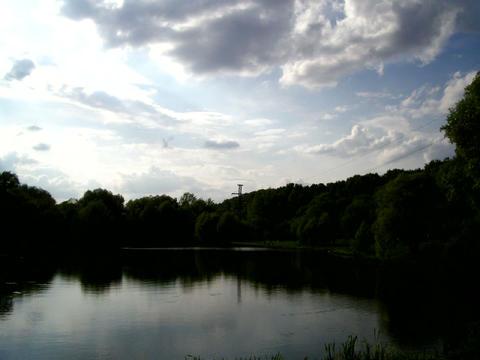 pond sky timelapse Stock Video Footage