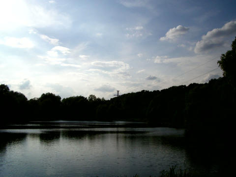 Pond Sky Timelapse stock footage