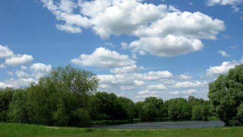 cloud landscape Stock Video Footage