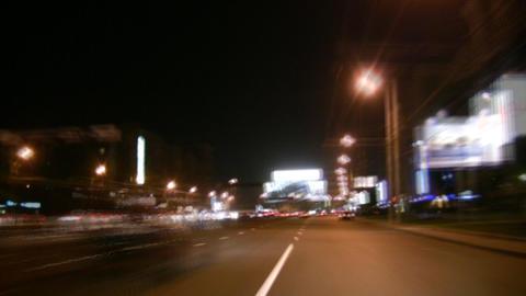 night way car Stock Video Footage