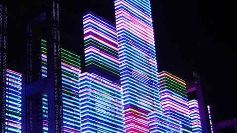 night neon light 2 Stock Video Footage