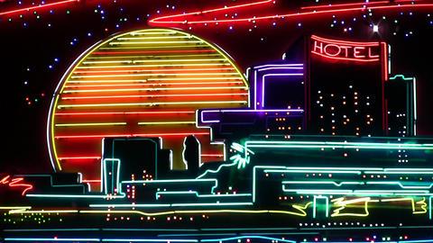 night neon light 3 Footage
