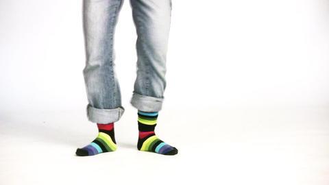 color stripe legs Footage