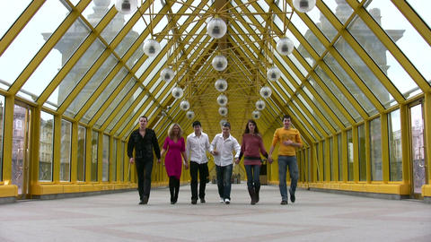 walking friends group Footage