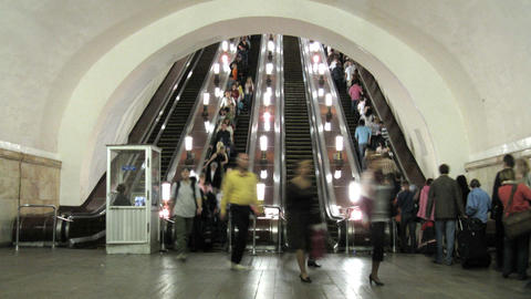 subway escalator time lapse Footage