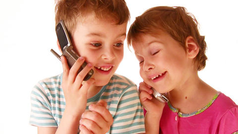 children phone Stock Video Footage