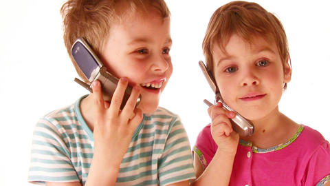 children phone Stock Video Footage