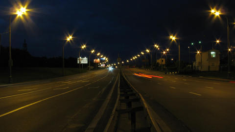 night traffic time lapse Stock Video Footage