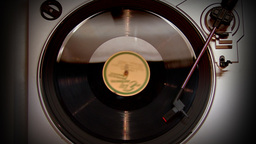 Vinyl Player Stock Video Footage