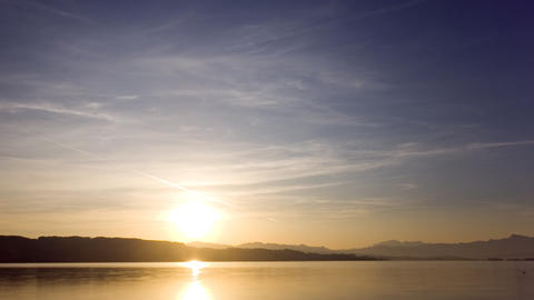 Sunrise above a lake (timelapse) Stock Video Footage