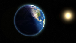 Earth & Sun Stock Video Footage