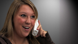 Woman Talking on Phone Close up Stock Video Footage