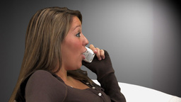 Woman Talking on Phone Footage
