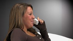 Woman Talking on Phone Stock Video Footage