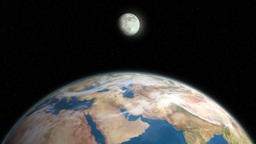 Earth and Moon 2 Stock Video Footage