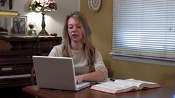 Girl study 1 Footage