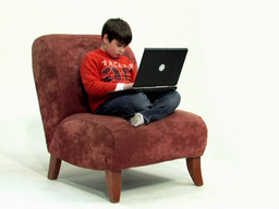 Boy on couch 486p Stock Video Footage