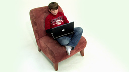 Boy on couch Top view HD Stock Video Footage