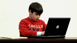 Child use laptop HD Stock Video Footage
