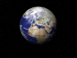 Fast Spinning Planet Earth In Space Stock Video Footage
