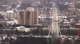 Giant Urban Sky-Wheel Stock Video Footage