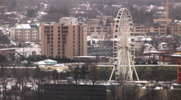 Giant Urban Sky-Wheel Stock Video Footage