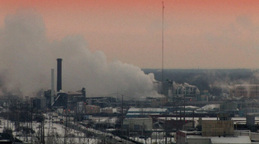 Factory Emissions In An Industrial Landscape Footage