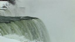 Close-Up Static View Of A Magnificent Waterfall (Medium... Stock Video Footage