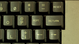 Return Button On Computer Keyboard Stock Video Footage
