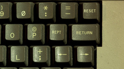 Return Button On Computer Keyboard Footage