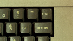 Reset Button On Computer Keyboard Footage