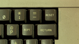Reset Button On Computer Keyboard Stock Video Footage