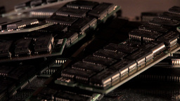 Extreme Close-Up View Of Computer RAMs Footage