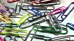 Colourful Paper Clips In Motion Footage